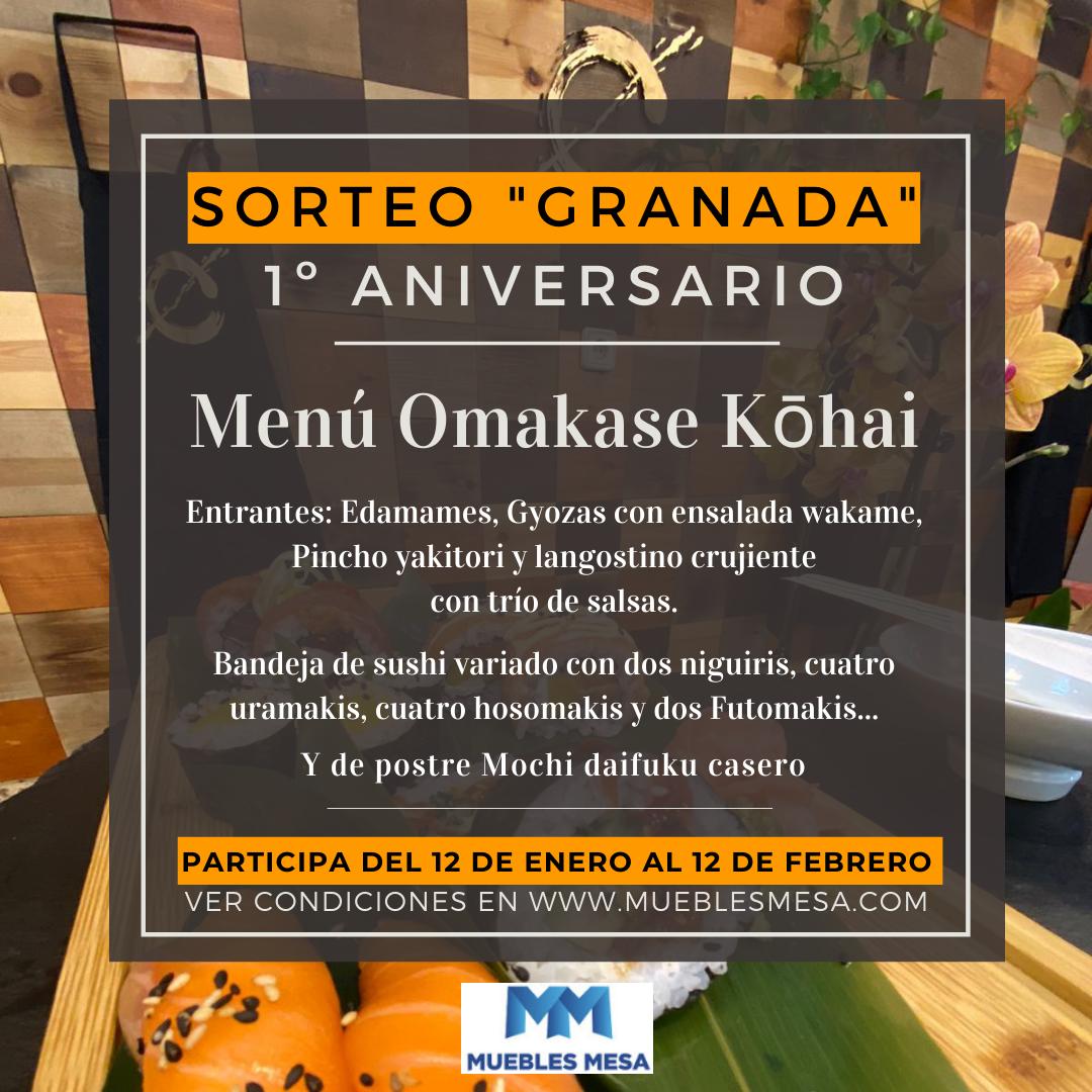 Sorte Muebles Mesa Granada, menu japonés